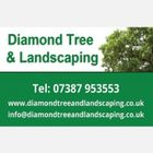 Diamond tree and landscaping logo