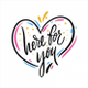 Here For You logo