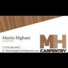 M.h carpentry logo
