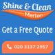 Shine and Clean Merton logo