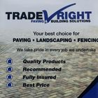 TradeRight paving and building solutions logo