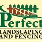 Perfect landscaping & fencing logo
