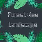 Forest view landscape & maintenance service logo
