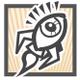 rocket•eye design logo