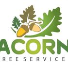 Acorn tree and gardening services logo