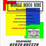 Mobile disco hire profile image.