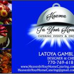 Heaven in Your Home Catering profile image.
