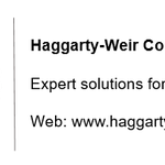 Haggarty-Weir Consulting profile image.