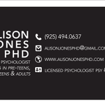 Dr. Alison Jones, Clinical Psychologist profile image.