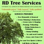 Rd trees and landscaping