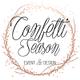 Confetti Season Event Design logo