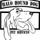 HALO Hound Dog Pet Services logo
