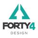 Forty4 Design logo