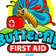 Butterfly First Aid for kids logo