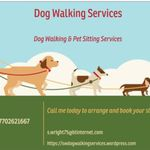 Dog walking services profile image.