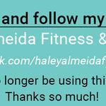 Haley Almeida Fitness & Lifestyle profile image.