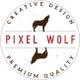 Pixel Wolf Design logo