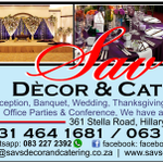 Savs Decor and Catering profile image.