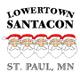 nigelparry.net/Lowertown SantaCon - @santacon55101 logo