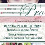 Proevents Weddings & Professional Make-up profile image.