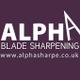 Alpha dog grooming logo