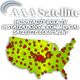AAA satellite and security logo