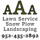 AAA Lawn Service Landscape and Snow Plow logo