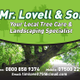 Mr lovell and son landscaping logo