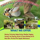 First call gardening maintenance services