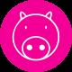 Pink Pig Print logo
