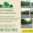 Just hedges tree and garden services
