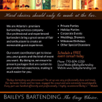 Bailey's Bartending profile image.