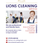 Lions Cleaning Services profile image.