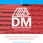 Dm roofing services logo