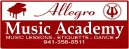 Allegro Academy of Music, Etiquette and Dance logo