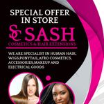 Sash cosmetics and hair extensions profile image.