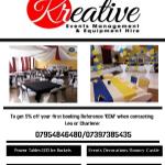 Kreative events management  profile image.