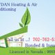 Raydan heating and air conditioning logo