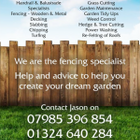 Js fencing & landscaping logo