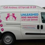 Unleashed Dog Walking and Pet Care Services profile image.