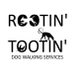 Rootin and Tooting Dog Walking Services logo
