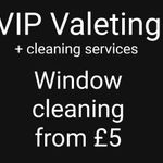 VIP Valeting and cleaning services profile image.