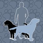 Two Dogs and a Man  logo