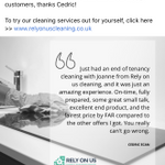 www.relyonuscleaning.co.uk profile image.