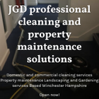 JGD professional cleaning and property maintenance solutions
