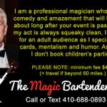 Lowell Sheets - The Magic Bartender profile image.