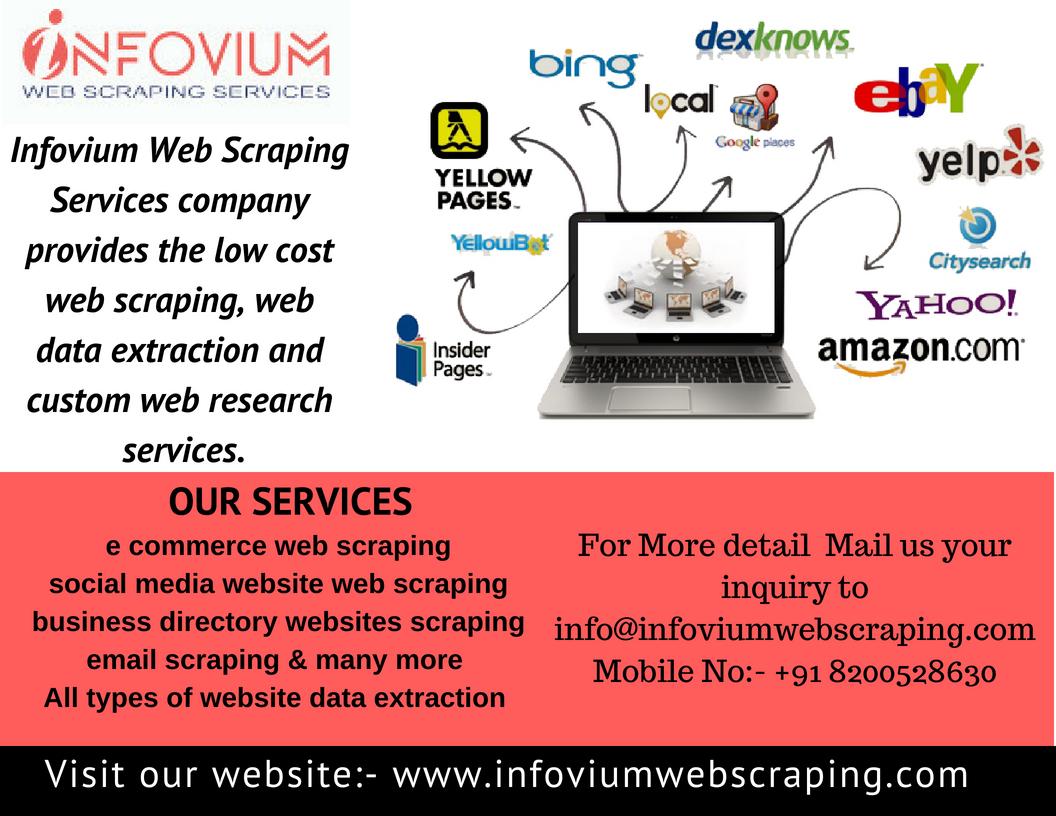 Infovium web scraping services | Bark Profile