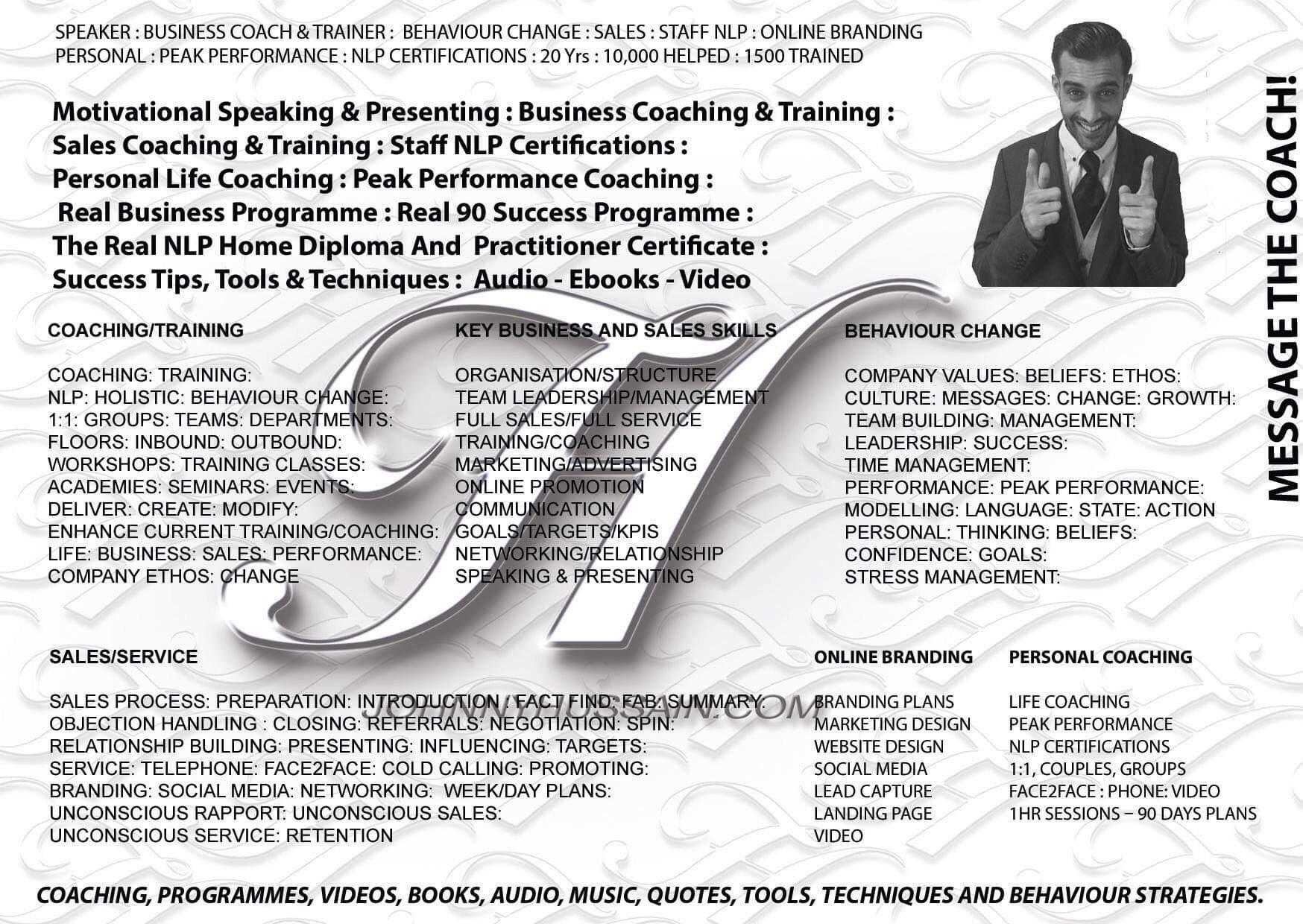 Johnny Hussain Coaching | Bark Profile